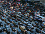 Overhead of Traffic During Evening Rush Hour, Garden Ring, Moscow, Russia Photographic Print by Jonathan Smith