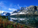 Bow Lake in Early Autumn, Banff National Park, Canada Photographic Print by Philip Smith