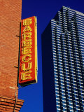 Restaurant Sign and Modern Building, West End Historic District, Dallas, United States of America Photographic Print by Richard Cummins