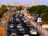 Election Hoardings on Roadside in Salmiya, Kuwait Photographic Print by Mark Daffey
