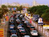 Election Hoardings on Roadside in Salmiya, Kuwait Photographic Print by Mark Daffey