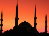 Dome and Minarets of Blue Mosque, Sultan Ahmet Camii, Istanbul, Turkey Photographic Print by John Elk III