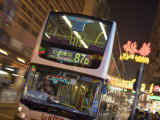 Double-Decker Bus on Nathan Road, Tsim Sha Tsui, Kowloon, China Photographic Print by Holger Leue