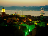 Evening Over Town and Golf St. Tropez, St. Tropez, France Fotografie-Druck von Barbara Van Zanten