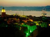 Evening Over Town and Golf St. Tropez, St. Tropez, France Fotografie-Druck von Barbara Van Zanten