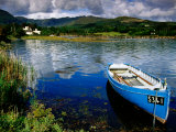 Wooden Boat Tied up on Beara Peninsula, Adrigole, Ireland Photographic Print by Richard Cummins