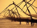 Chinese Fishing Machine, Kochi, India 写真プリント : トム・コックレム