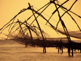 Chinese Fishing Machine, Kochi, India Photographic Print by Tom Cockrem