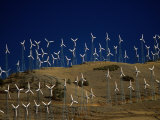 Rows of Wind Turbines on Hill, USA Photographic Print by Johnson Dennis