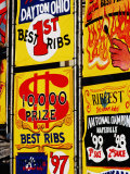 Detail of Rib Stall Signs at Jazz & Rib Festival, Columbus, United States of America Photographic Print by Richard I'Anson