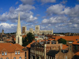City Buildings with York Minster Cathedral in Background, York, United Kingdom Photographic Print by Johnson Dennis