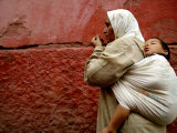 Mother and Child in the Narrow Alleys of the Kasbah, Marrakesh, Morocco Photographic Print by Doug McKinlay