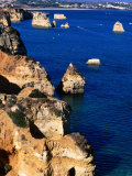 Coastline, Rock Formations, Lagos, Portugal Photographic Print by John Banagan