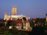 Exterior of Canterbury Cathedral with Other City Buildings in Foreground, Canterbury, Uk Photographic Print by Johnson Dennis