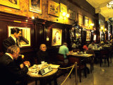 Carlos Gardel & Friends, Model Statues at Gran Cafe Tortoni, Argentina Photographic Print by Holger Leue