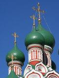 Onion Domes Atop Church of the Trinity in Nikitniki, Moscow, Russia Lámina fotográfica por Jonathan Smith