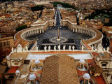 Piazza San Pietro From St. Peter Cathedral&#39;s Dome, Rome, Italy Photographic Print by Witold Skrypczak