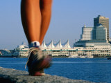 Runners Feet in Motion by Harbour, Vancouver, Canada Photographic Print by Philip Smith