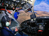 Pilot in Cockpit of Grumman Goose, United States of America Photographic Print by Scott Darsney