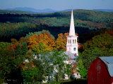 Church Spire, Peacham, USA Photographic Print by Mark Newman