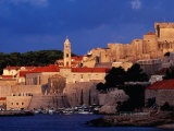 City Walls and Old Town at Sunrise, Dubrovnik, Croatia Photographic Print by Richard I'Anson