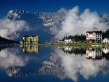 Lago Di Misurina, Gruppo Del Surapis, Dolomites, Dolomiti Bellunesi National Park, Italy Photographic Print by Witold Skrypczak