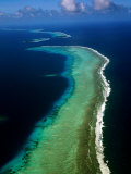 Aerial of Barrier Atoll, Micronesia Photographic Print by John Elk III
