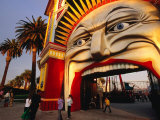 Entrance of Luna Park, Melbourne, Australia Photographic Print by James Braund