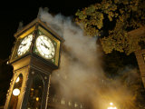 Gastown's Famous Steam-Powered Clock, Vancouver, Canada Photographic Print by Lawrence Worcester
