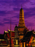 Wat Phra Keo at Dusk, Bangkok, Thailand Photographic Print by Richard I&#39;Anson