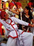Rajastani Dancers at Annual Elephant Festival, Jaipur, India Photographic Print by Paul Beinssen