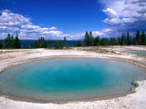 Blue Funnel Spring at West Thumb Geyser Basin, Yellowstone National Park, USA Photographic Print by John Elk III