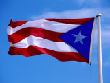 Puerto Rican Flag, San Juan, Puerto Rico Photographic Print by John Elk III