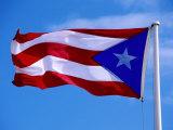 Puerto Rican Flag, San Juan, Puerto Rico Photographic Print by John Elk III