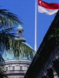 Flag and Dome of Old Supreme Court, Singapore, Singapore Photographic Print by Phil Weymouth