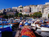 Porticciolo (Marina) at Mergellina, Naples, Italy Photographic Print by Jean-Bernard Carillet