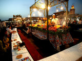 Food Stall on Dejemma El-Fna, Marrakesh, Morocco Photographic Print by Doug McKinlay