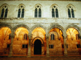 Arches of Gothic Renaissance Rector's Palace, Dubrovnik, Croatia Photographic Print by Richard Nebesky