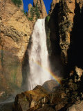 Rainbow Over Tower Falls, Yellowstone National Park, USA Photographic Print by Carol Polich