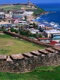 Castillo San Felipe Del Morro Overlooking Coastline, San Juan, Puerto Rico Fotografie-Druck von John Elk III
