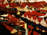 Overhead of Historic Quarter, Munich, Germany Photographic Print by Krzysztof Dydynski