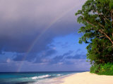 Rainbow Over Sea and Island, Seychelles Photographic Print by Ralph Lee Hopkins