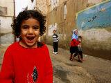 Mark Daffey - Children on Street in Old Town, South of Khoshk River, Shiraz, Iran - Fotografik Baskı