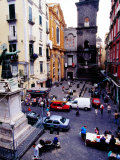 Piazza San Gaetano, Naples, Italy Photographic Print by Jean-Bernard Carillet