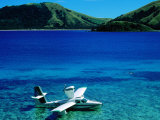 Seaplane in Water Between Yasawa and Sawa-I-Lau Islands, Fiji Fotografiskt tryck av Mark Daffey