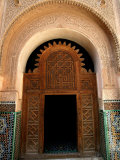 Intricate Wood and Stucco Work at Ali Ben Youssef Medersa, Marrakesh, Morocco Photographic Print by Doug McKinlay