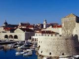Old Fort Overlooking Marina, Dubrovnik, Croatia Photographic Print by Richard Nebesky
