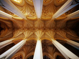 Vault Ceiling in 15th-Century Frauenkirche (Church of Our Lady), Munich, Germany Photographic Print by Krzysztof Dydynski