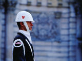 Guard at Dolmabahce Palace, Istanbul, Turkey Photographic Print by Phil Weymouth