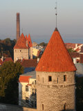Overhead of Town Wall Towers North of Toompea Hill, Tallinn, Estonia Photographic Print by Jonathan Smith